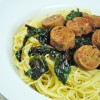 Swiss Chard Spaghetti with Field Roast Sausage