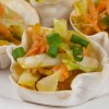 Sweet Potato Slaw in Wonton Cups