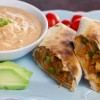 Baked Pumpkin Chimichangas with Chipotle Cream Sauce