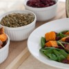 Roasted Sweet Potato Spinach Salad