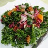 Fruity Kale Salad with Candied Pecans
