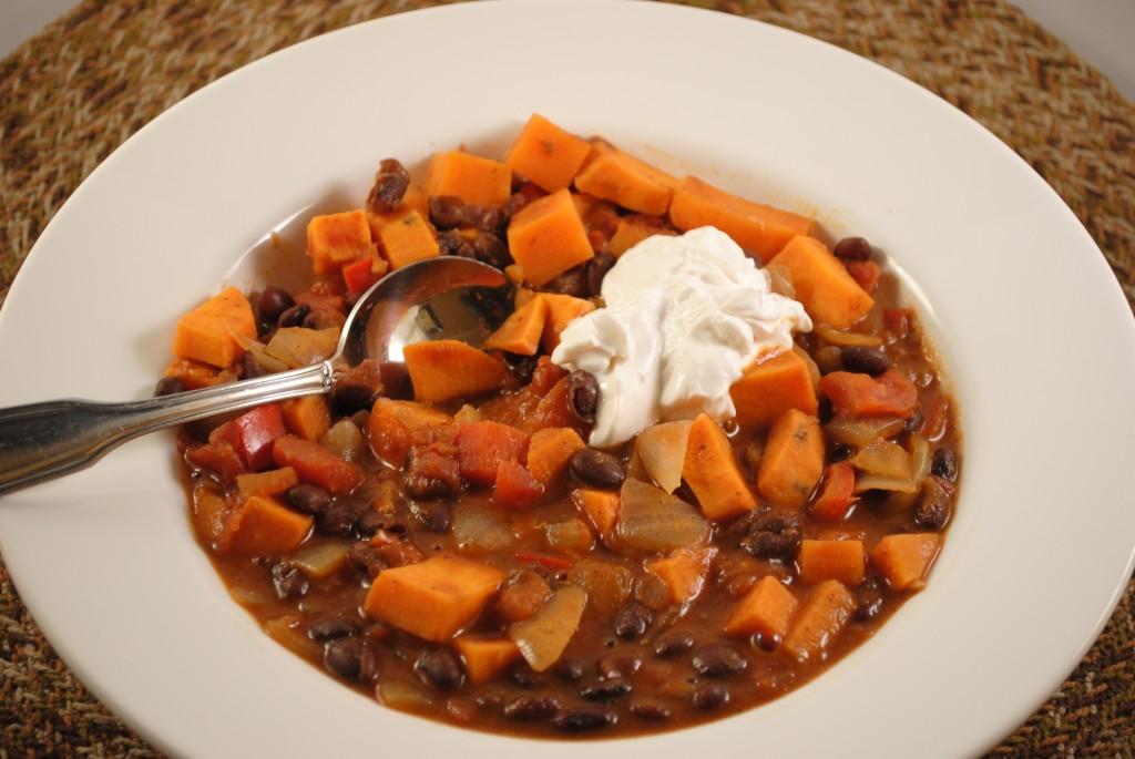 sweet potato and black bean chili2