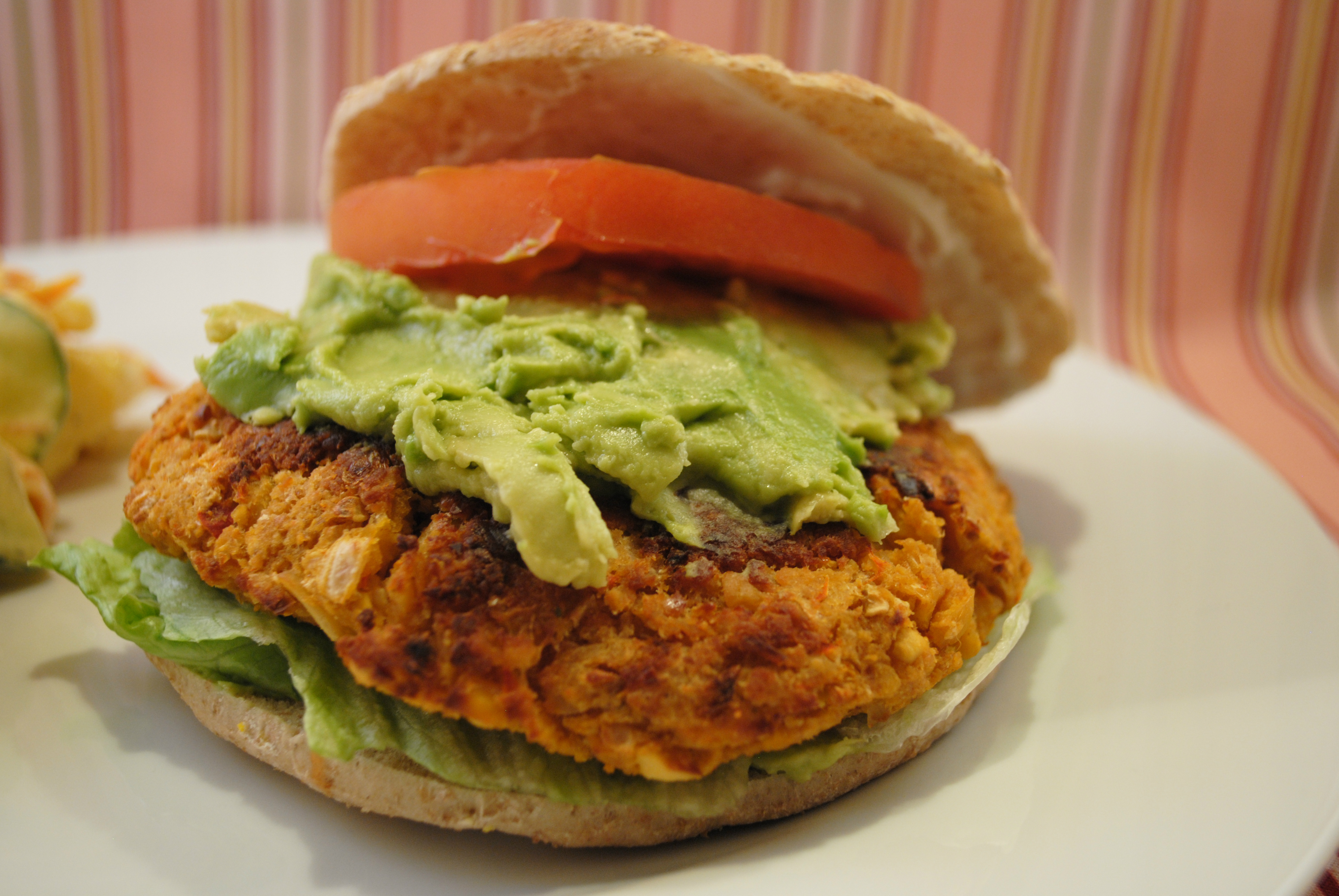 Spicy Chickpea Burgers (4-5 patties, depending on size/thickness)