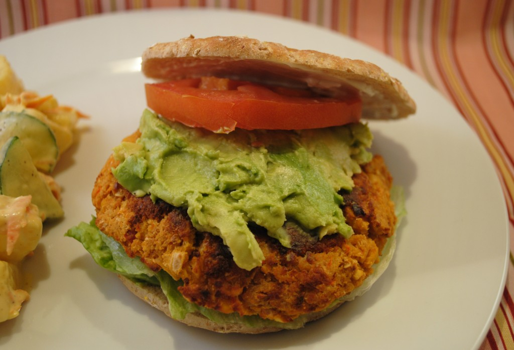 spicy chickpea burger