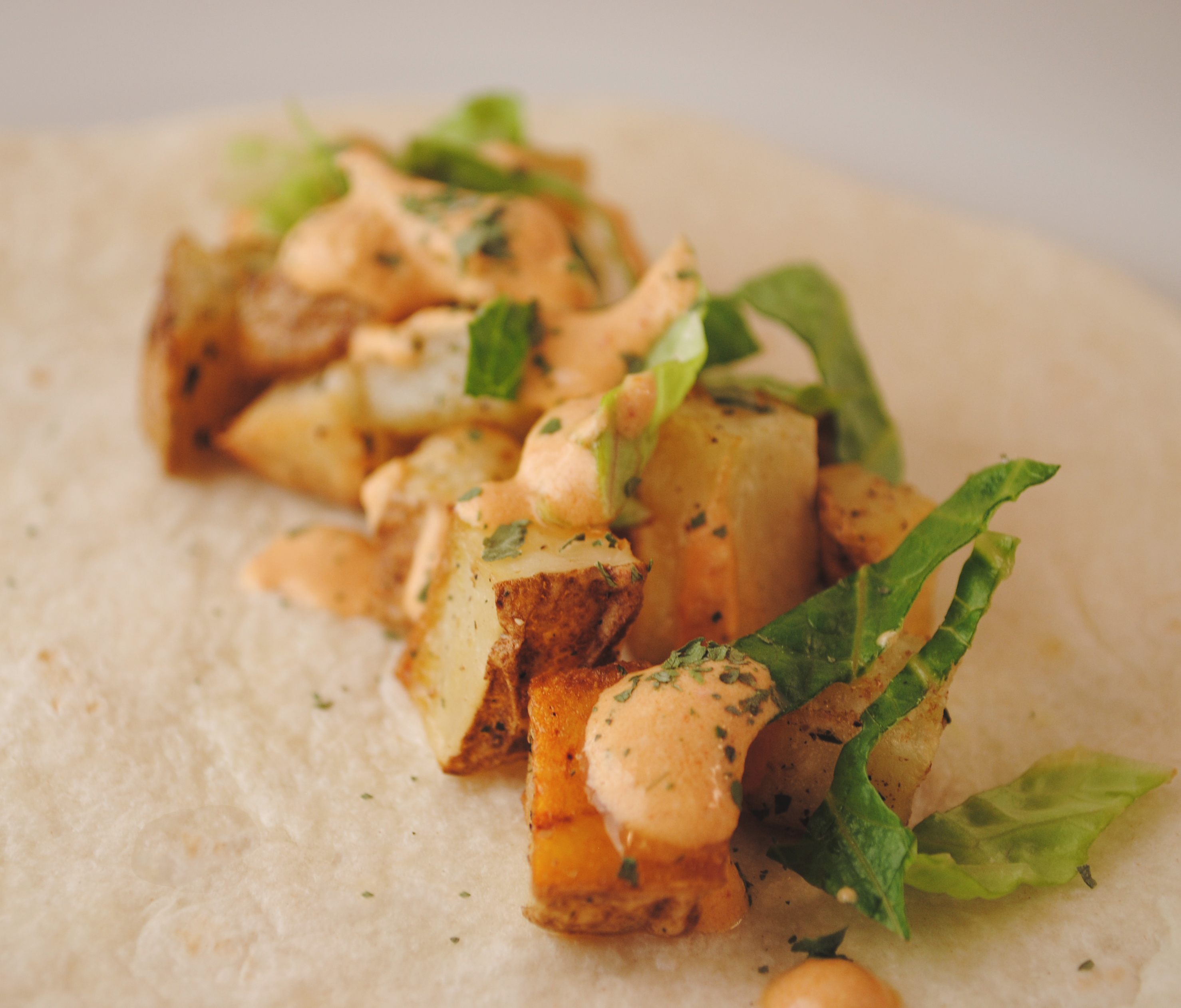 Vegan Crispy Potato Soft Taco (Inspired by Taco Bell)