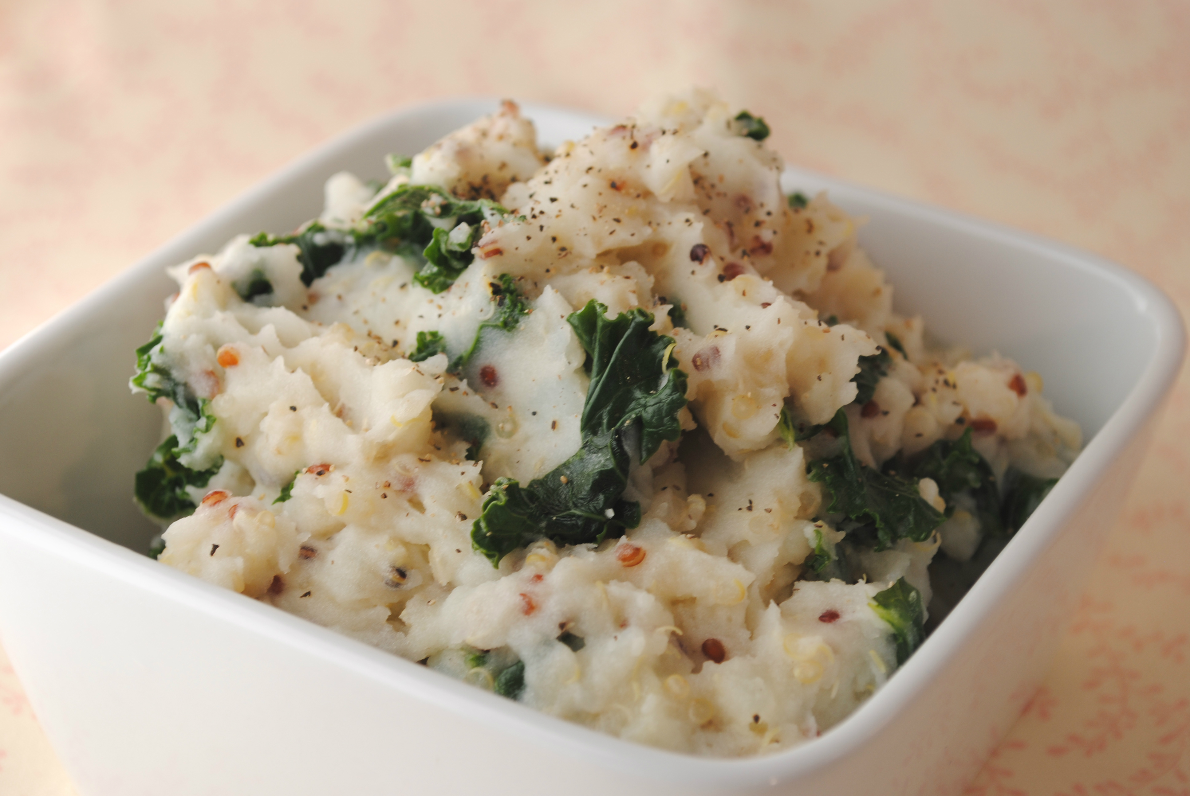 Mashed Potatoes with Kale and Quinoa