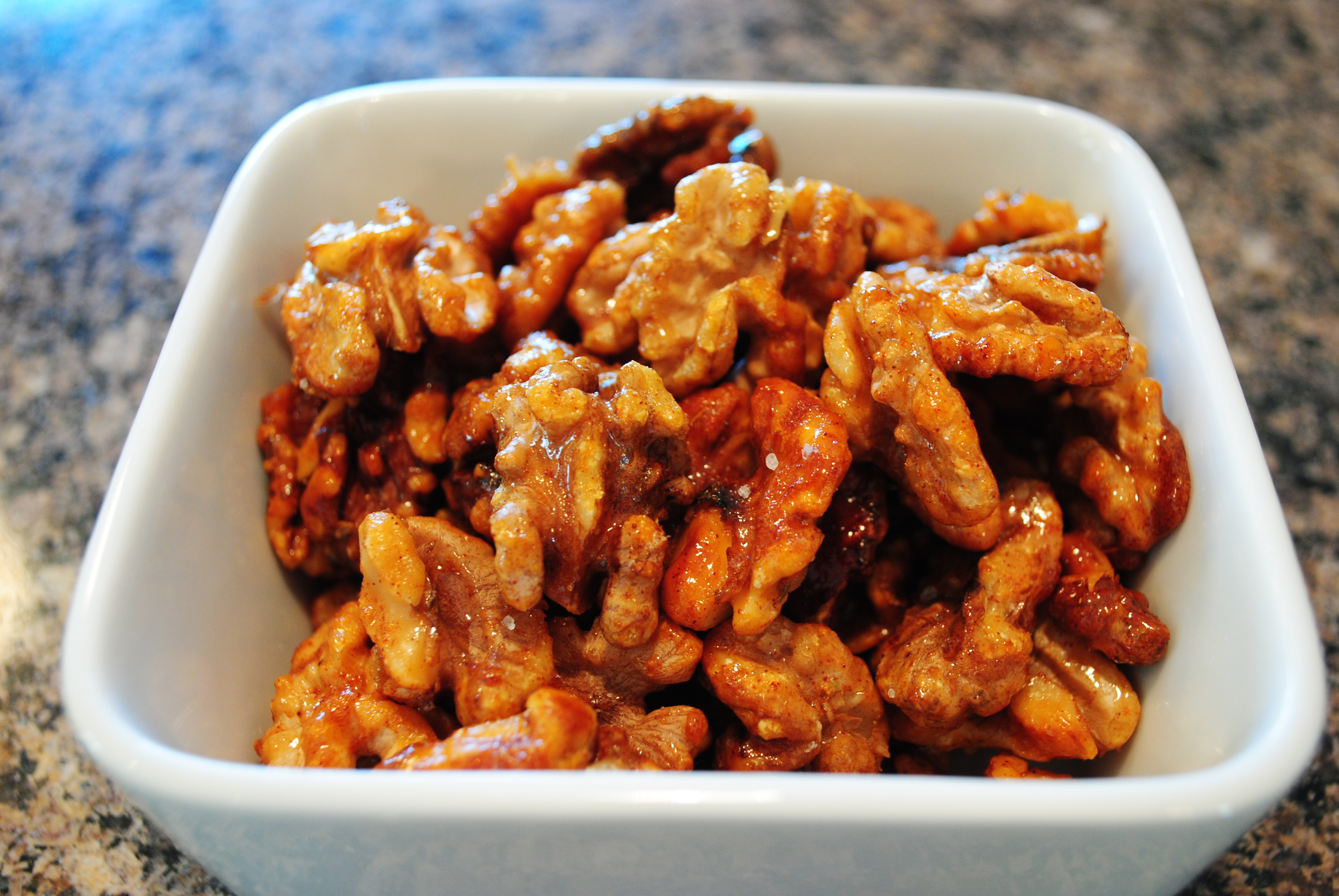 Agave Chili Baked Walnuts
