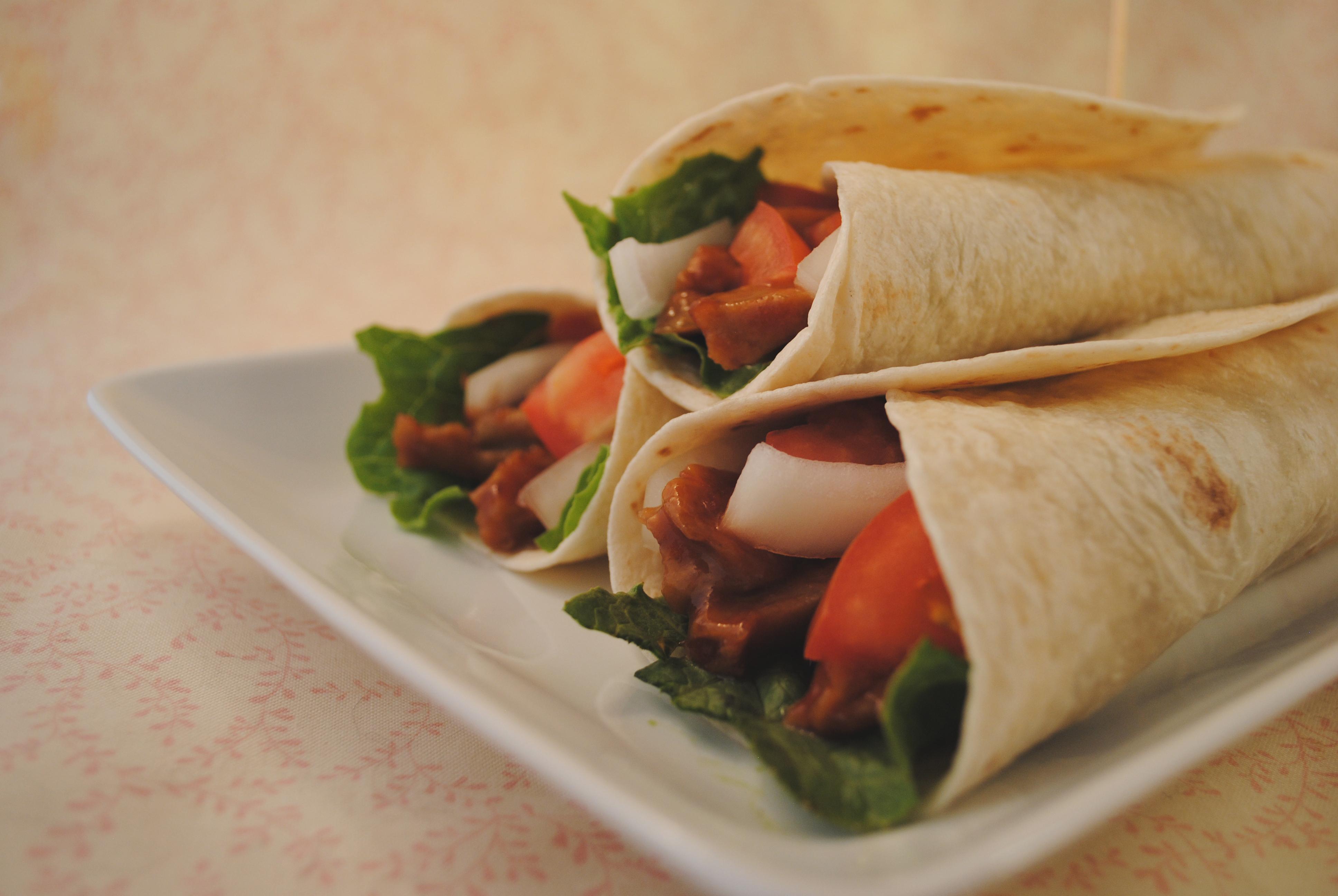 Vegan BBQ Seitan Wrap