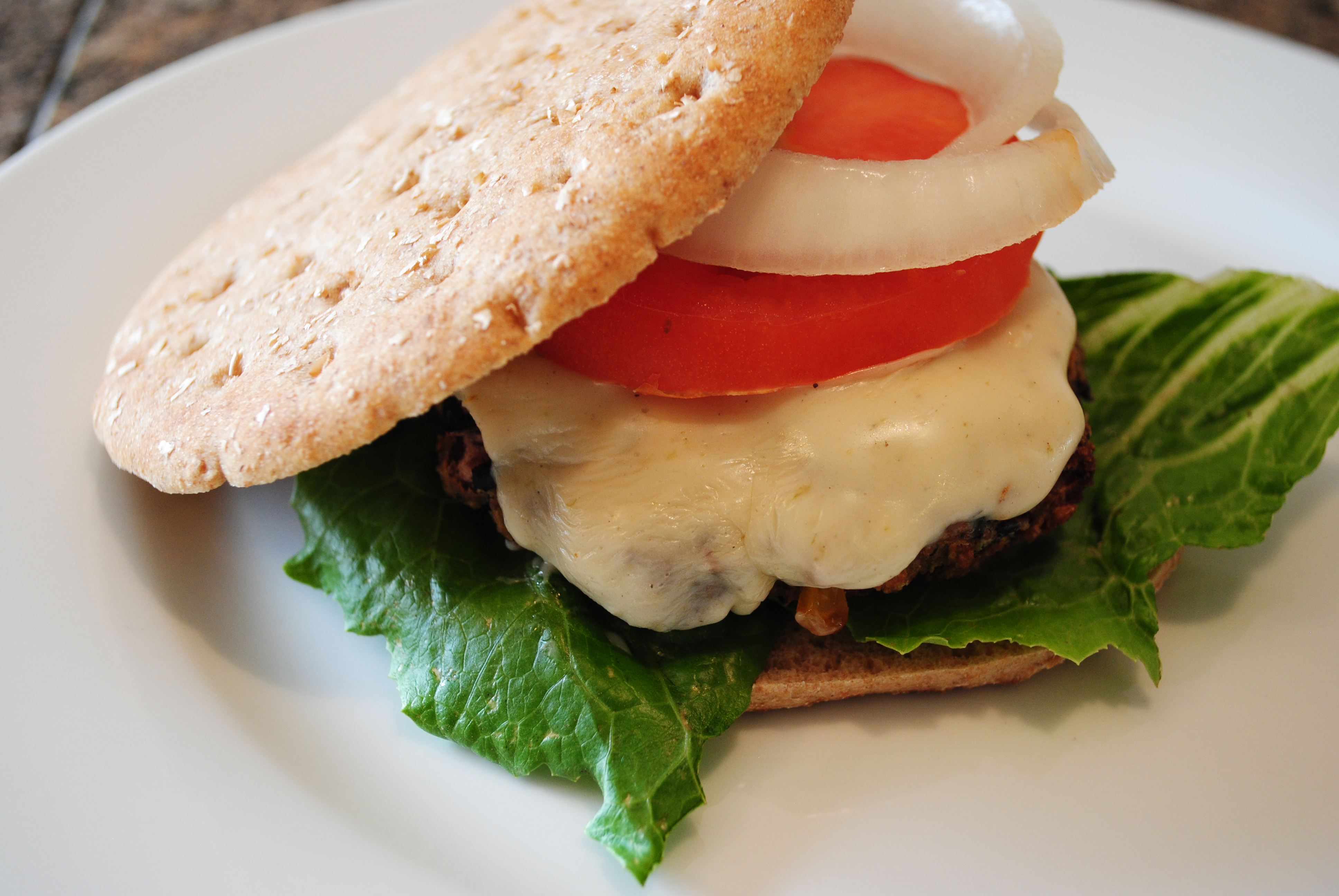 Vegan Green Chile Blackbean Burger