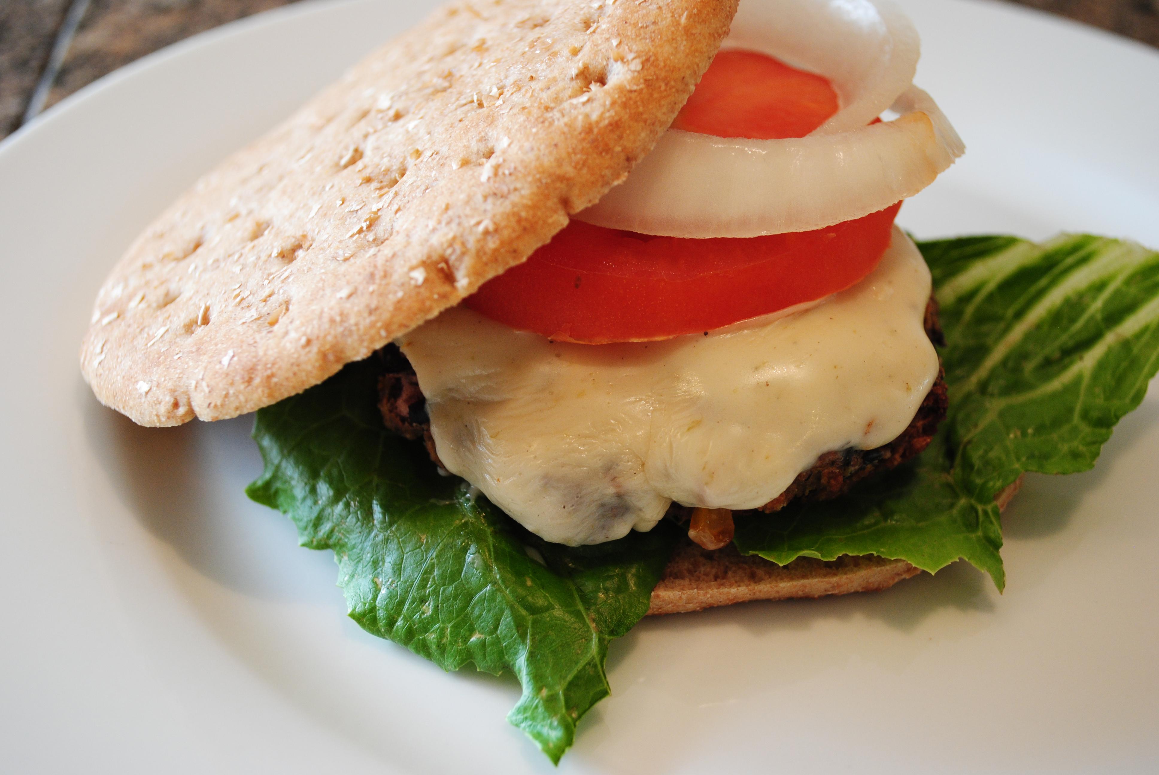 Vegan Green Chile Blackbean Burger