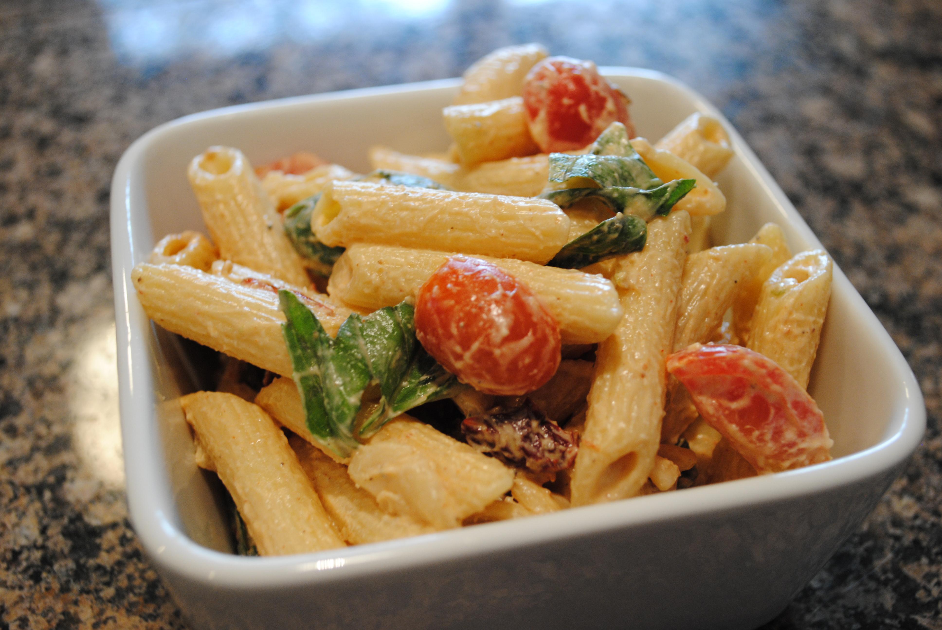 Vegan Spicy Pasta Salad