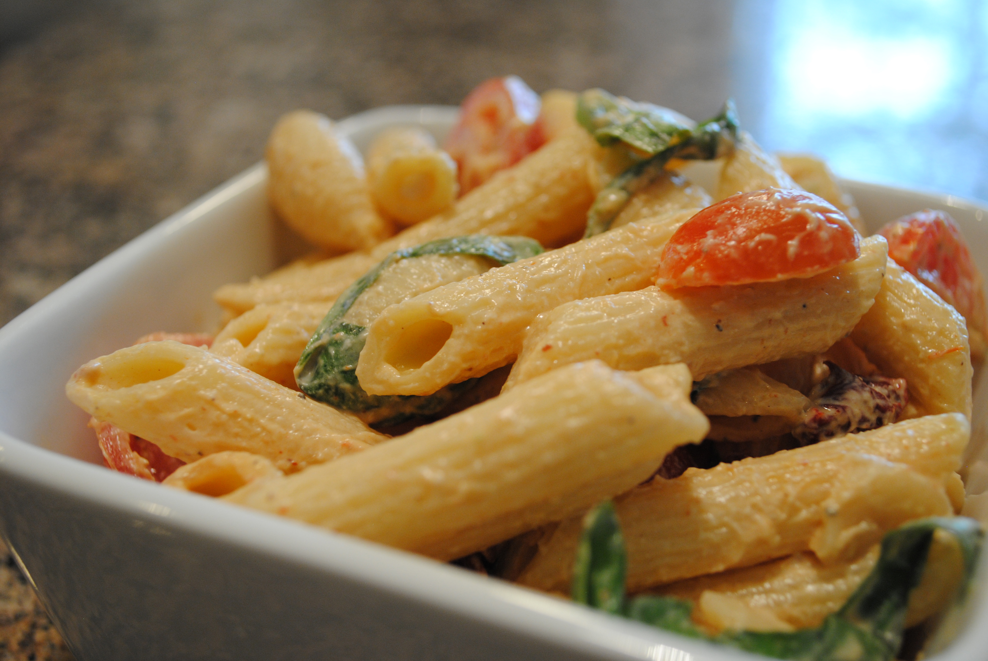 Vegan Spicy Pasta Salad