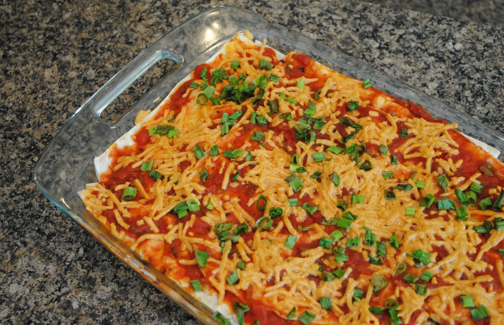 Vegan Layered Sweet Potato Enchilada Casserole | www.thatwasvegan.com