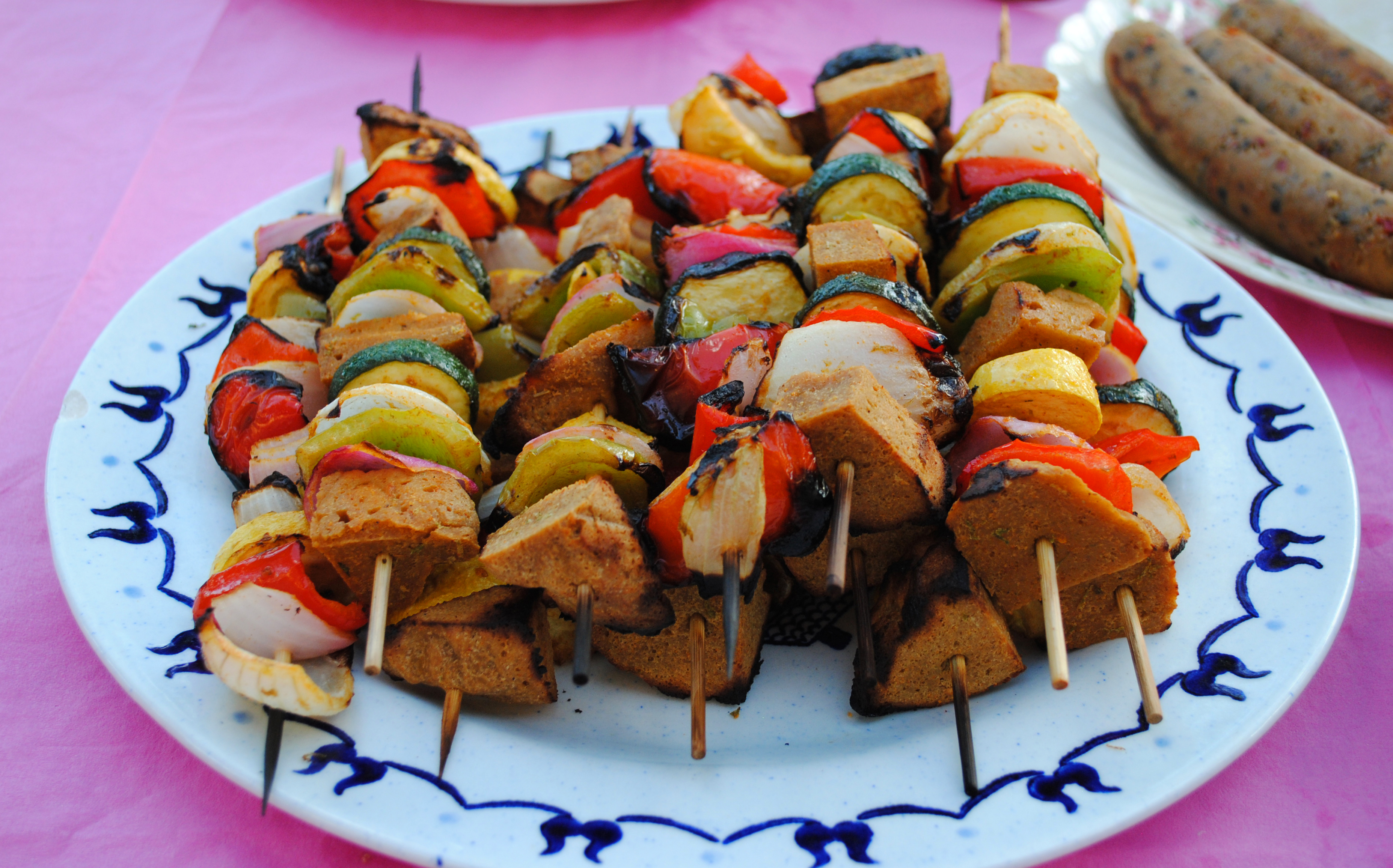 Vegan Chili Lime Seitan Kabobs
