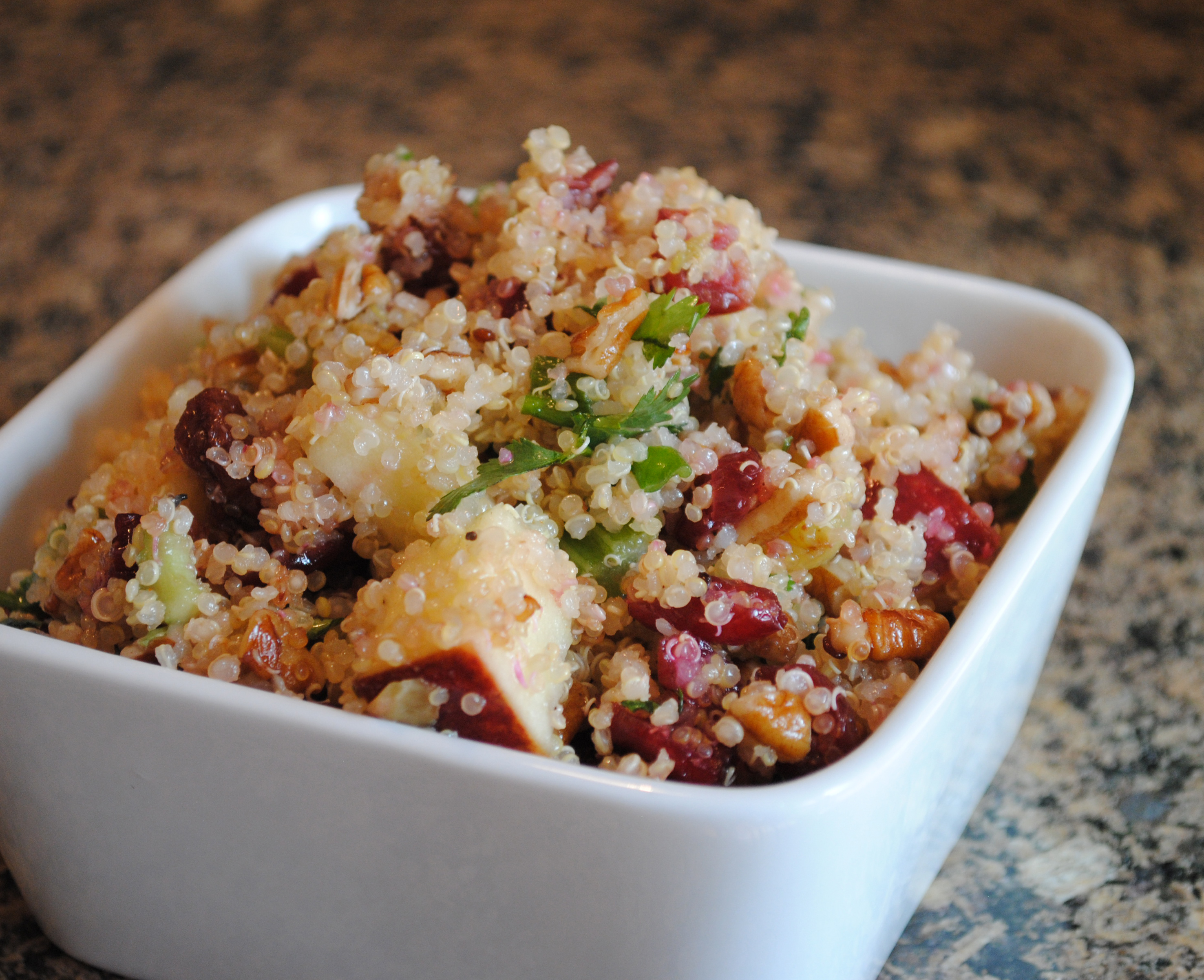 Vegan Fruity Quinoa Salad with Pecans