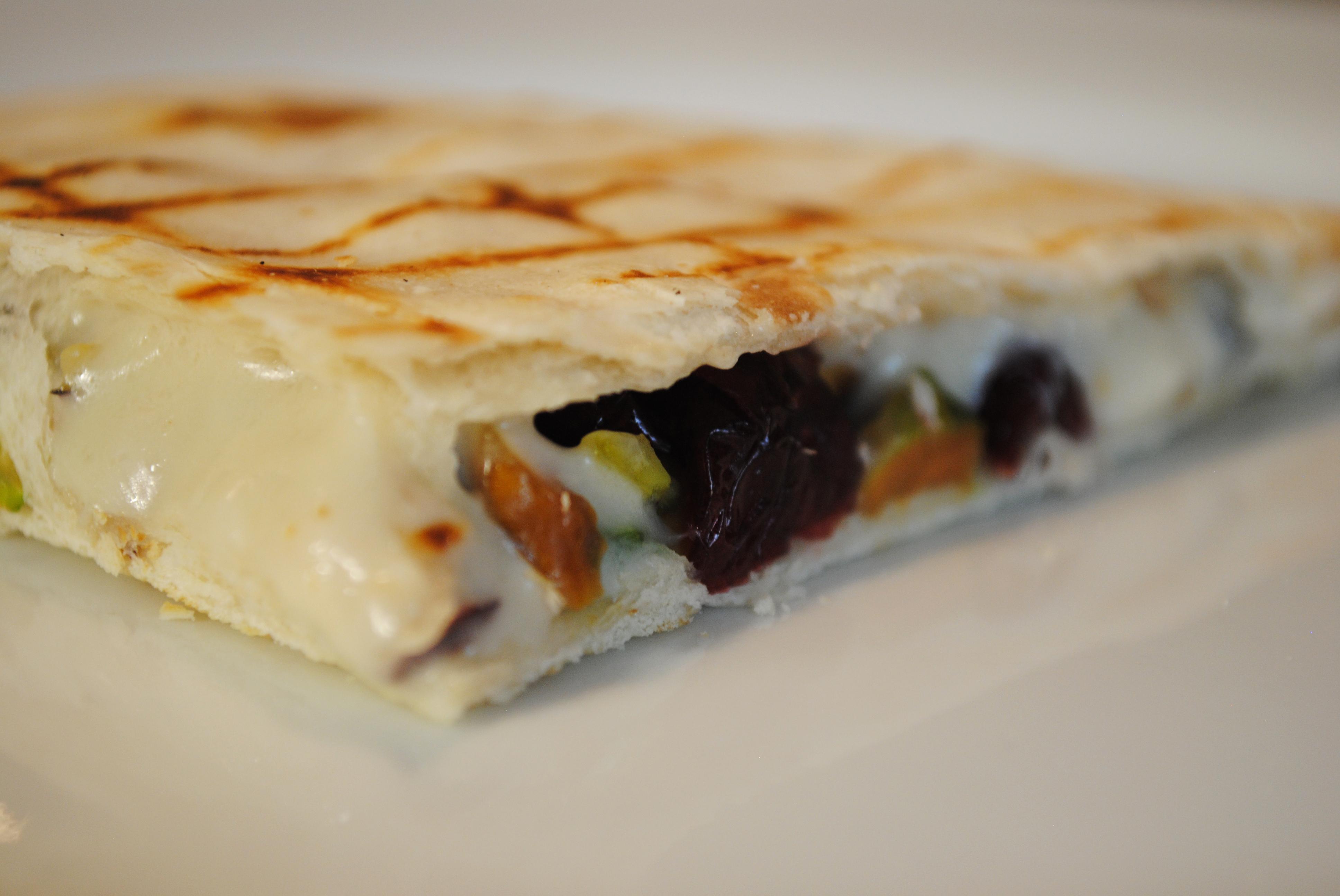 Vegan Grilled Cranberry Pistachio Quesadilla