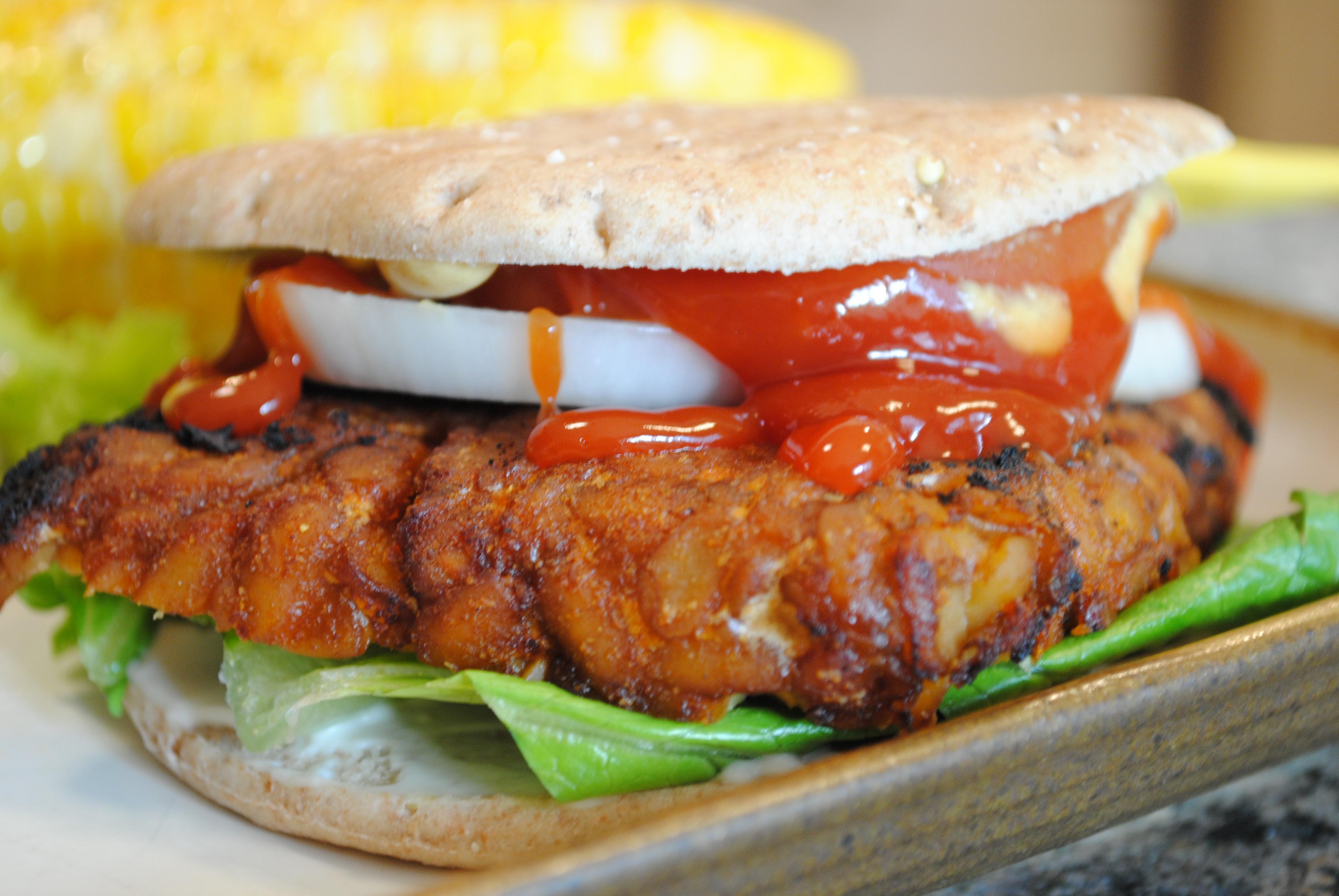 Asian-Style Tempeh Burger