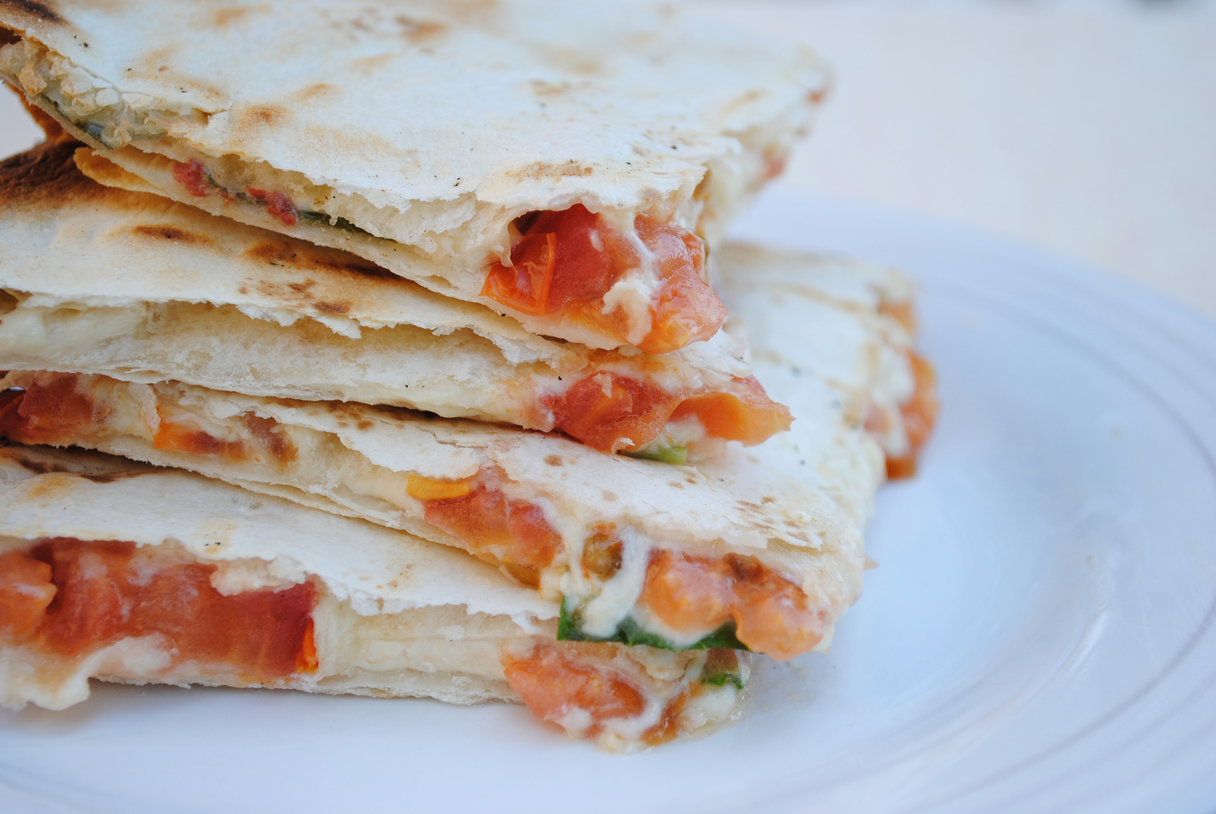 Vegan Caprese Quesadillas