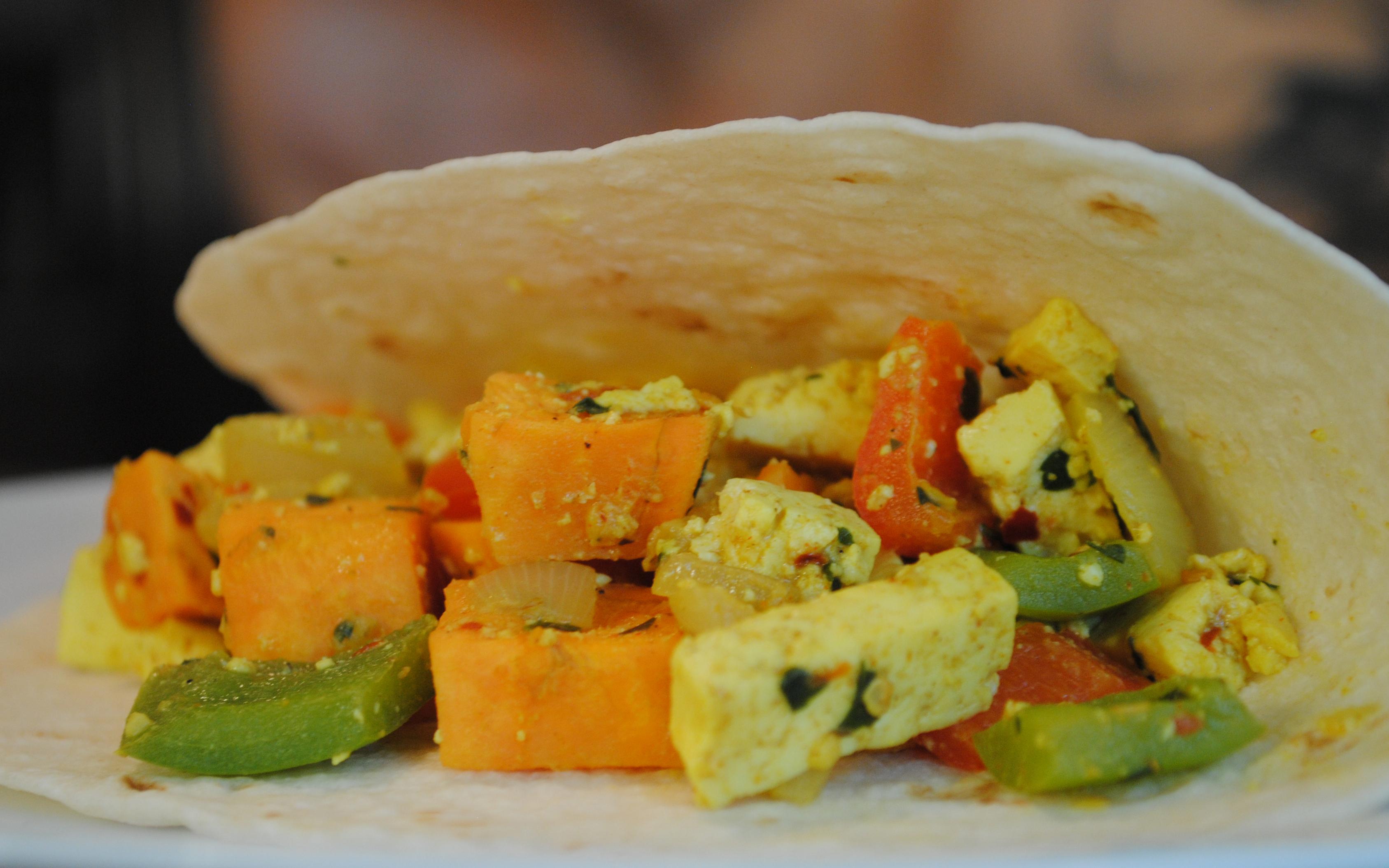 Vegan Sweet Potato Tofu Scramble