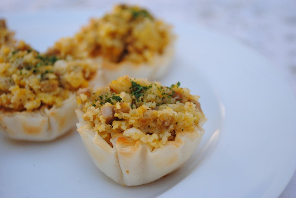 Vegan Butternut-Sausage Stuffed Phyllo Cups