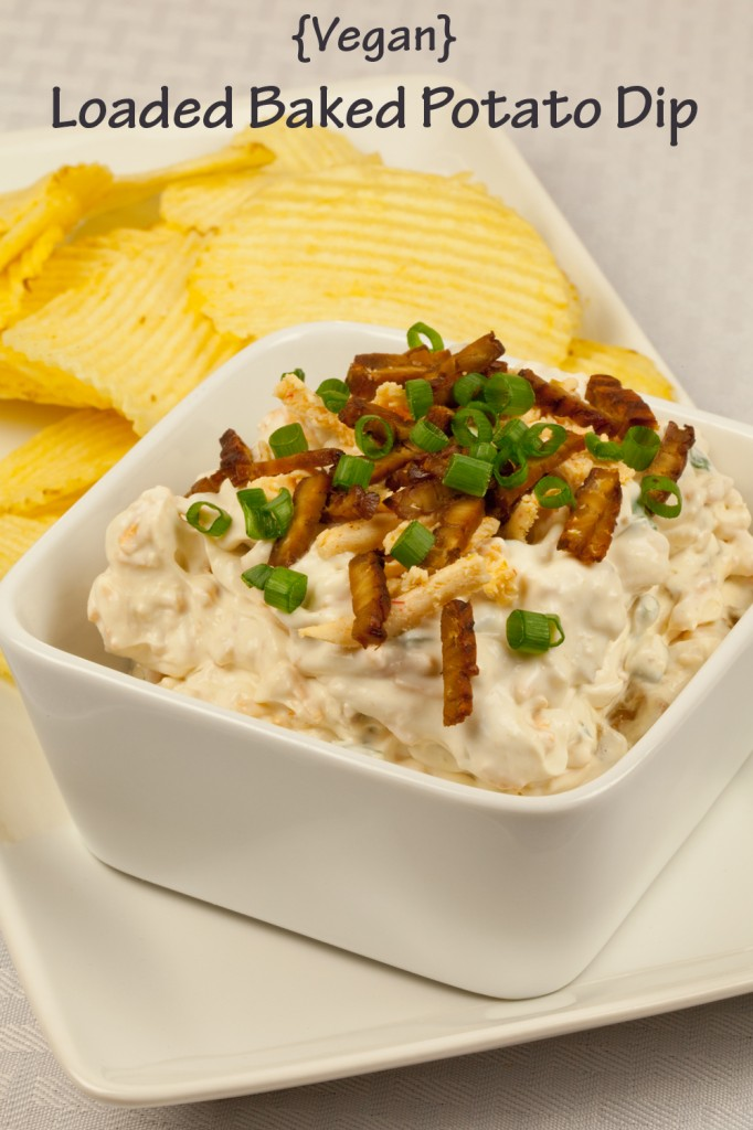 loaded baked potato dip with homemade chips recipes from potato chips ...