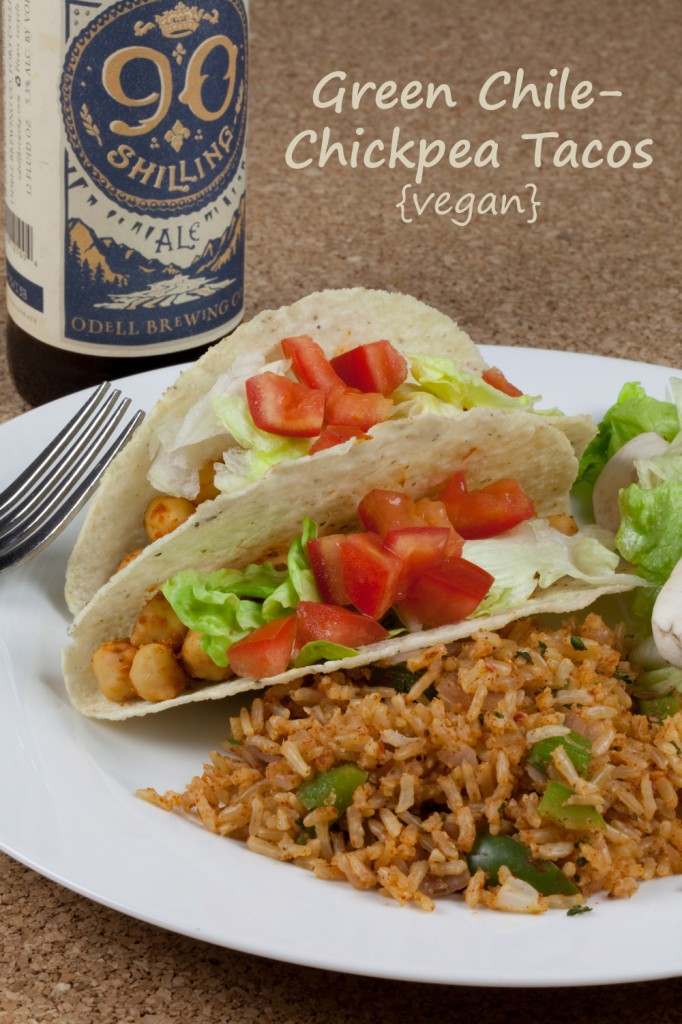 Green Chile-Chickpea Tacos #vegan