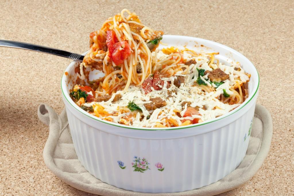"""BLT"" Baked Spaghetti #vegan"