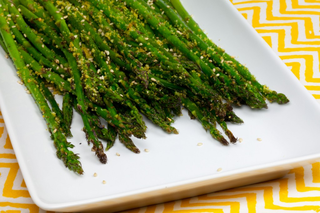 Sesame Parmesan Roasted Asparagus