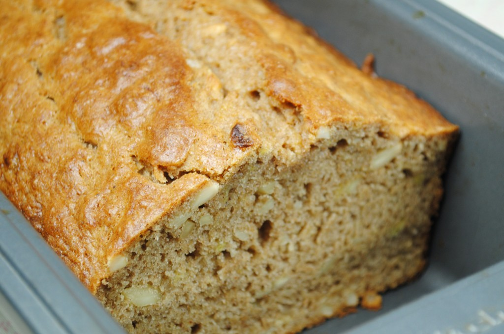 Vegan Banana Bread with Slivered Almonds
