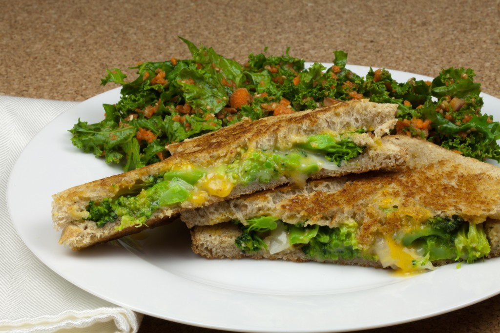 "Vegan ""Broccoli Cheese Soup"" Grilled Cheese"