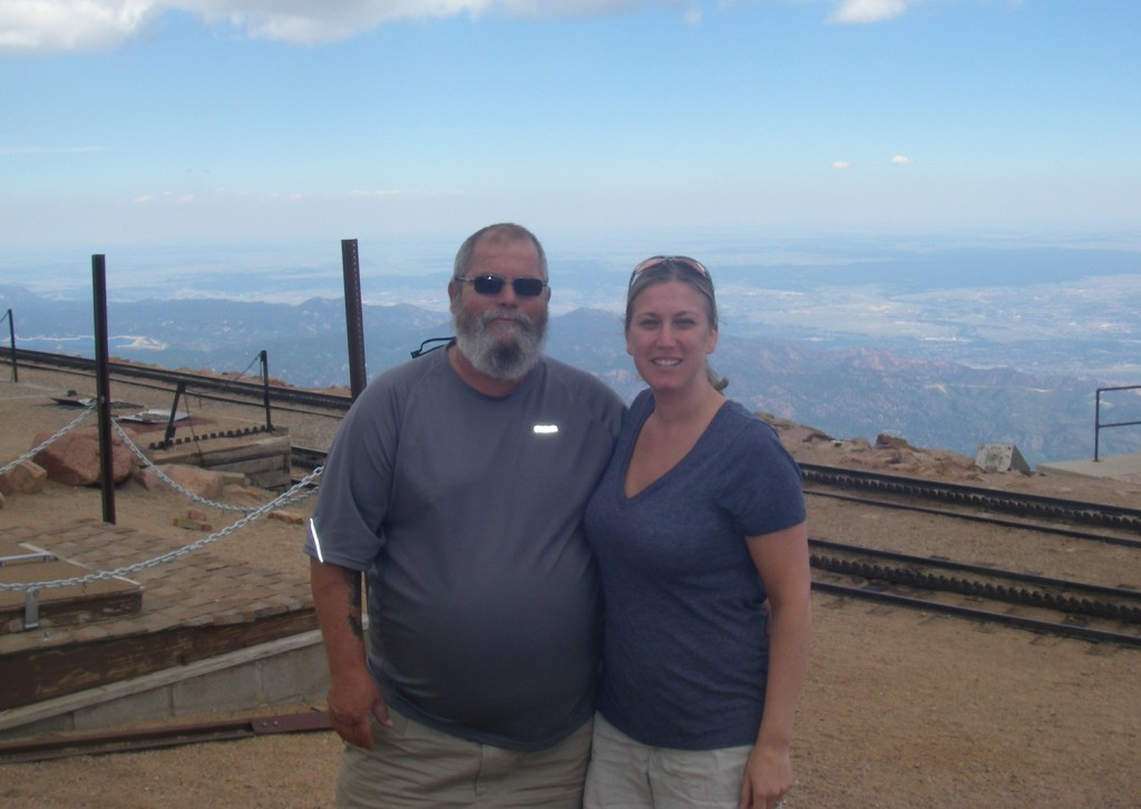 Dad and me on top of Pikes Peak, 2011