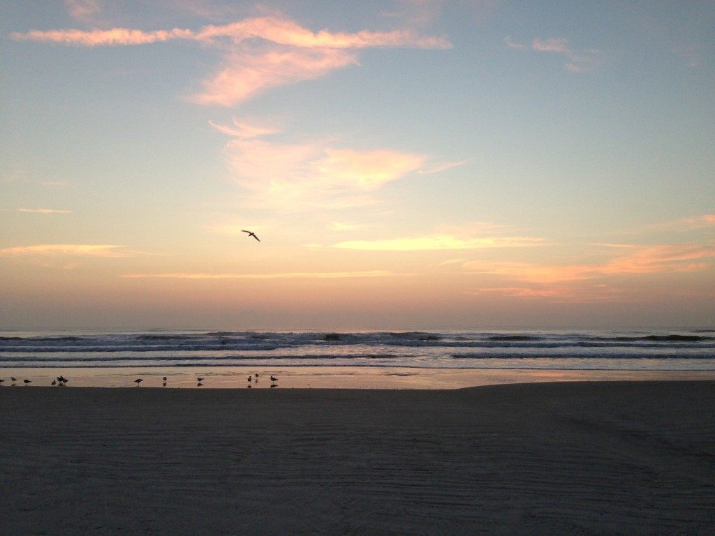 Sunrise over Daytona Beach the morning of my Dad's funeral service