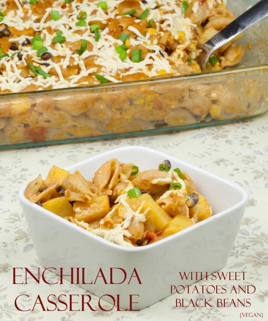Vegan Enchilada Pasta Casserole
