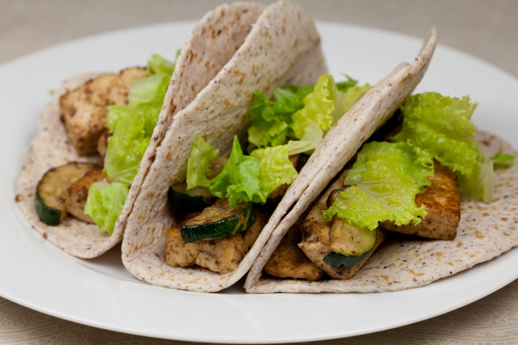 Vegan Zucchini and Tofu Soft Tacos