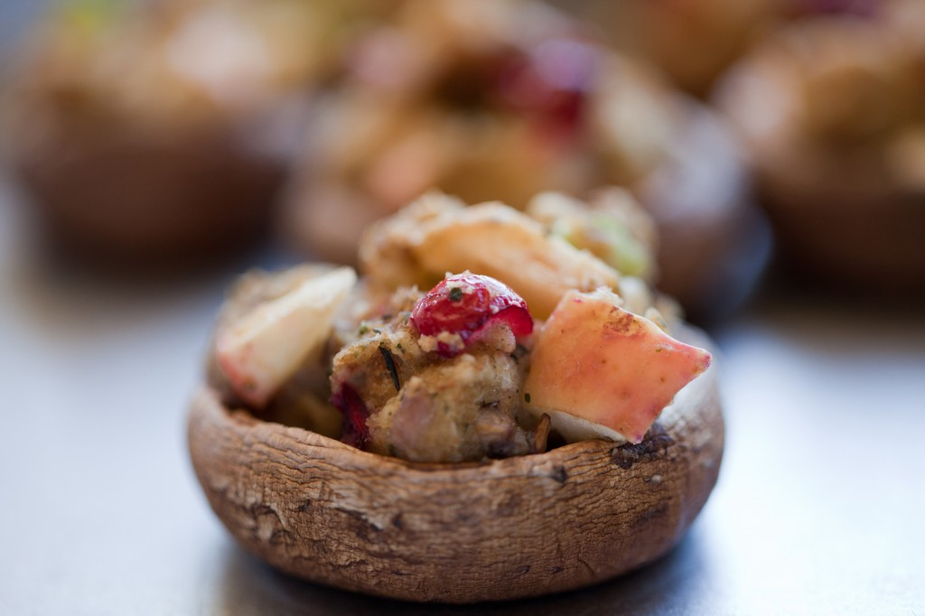 Vegan New England-Style Stuffing Stuffed Mushrooms
