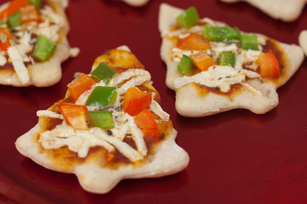 Little Christmas Tree Pizzas