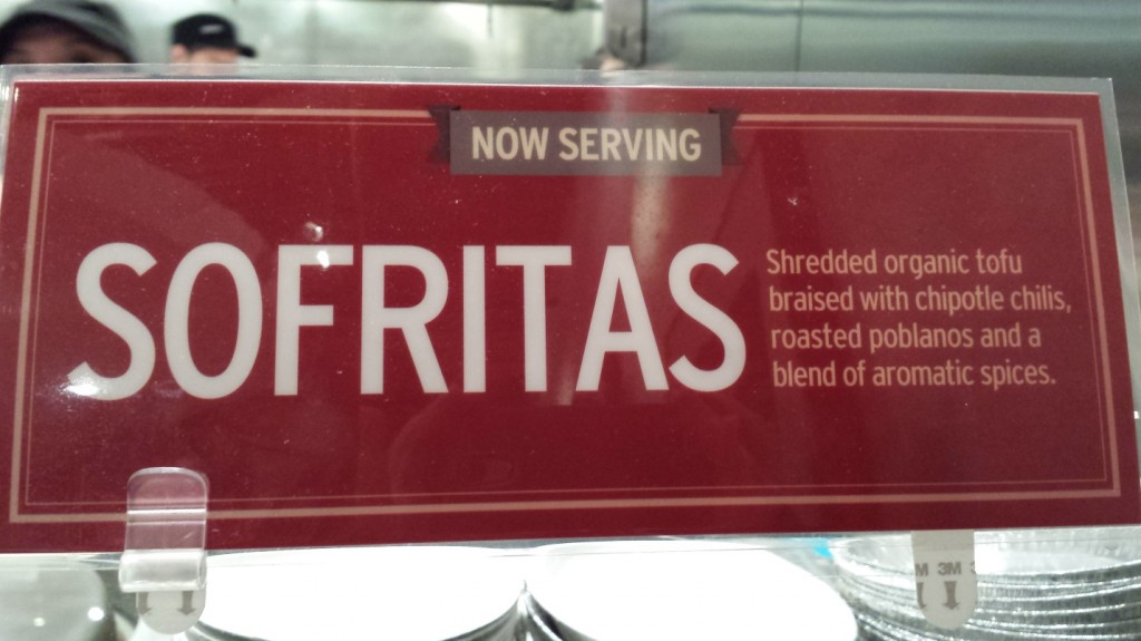 Guest Blogger: Chipotle Sofritas!