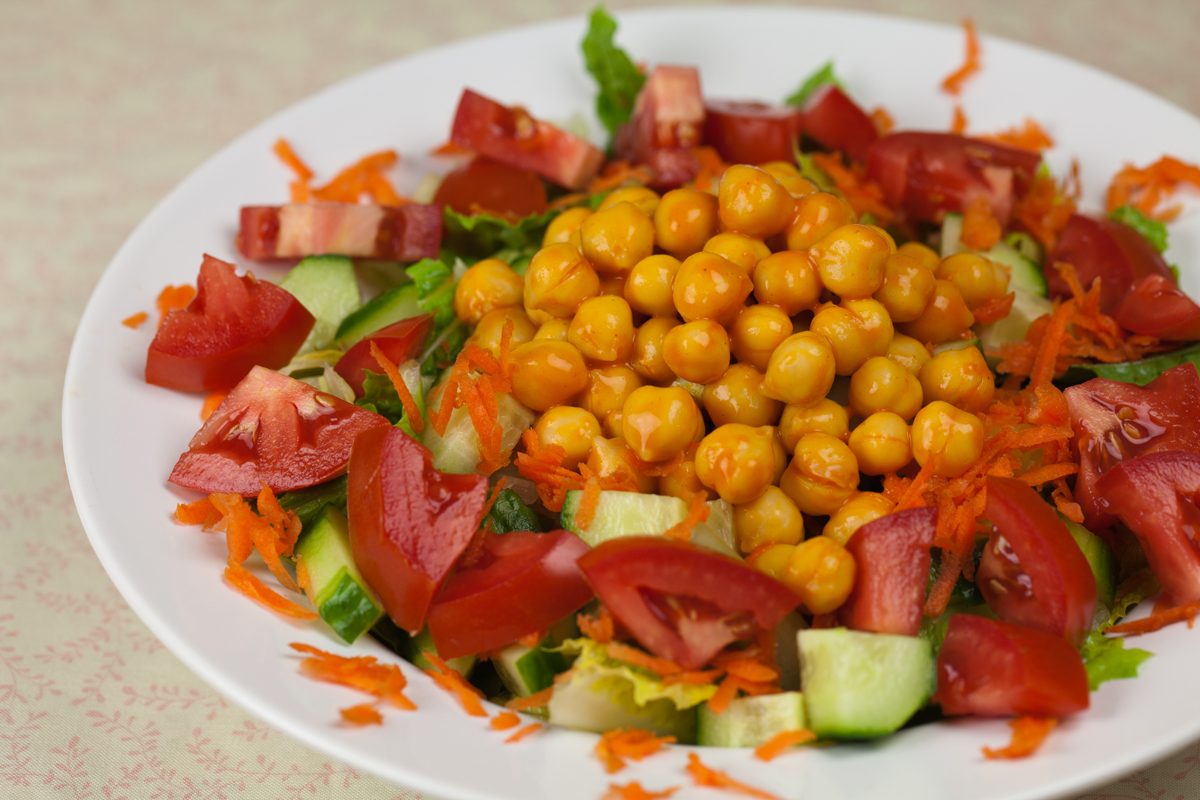 ... chickpeas , and also another way to keep your salads interesting, so