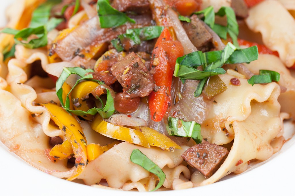 Vegan Spicy Drunken Italian Noodles