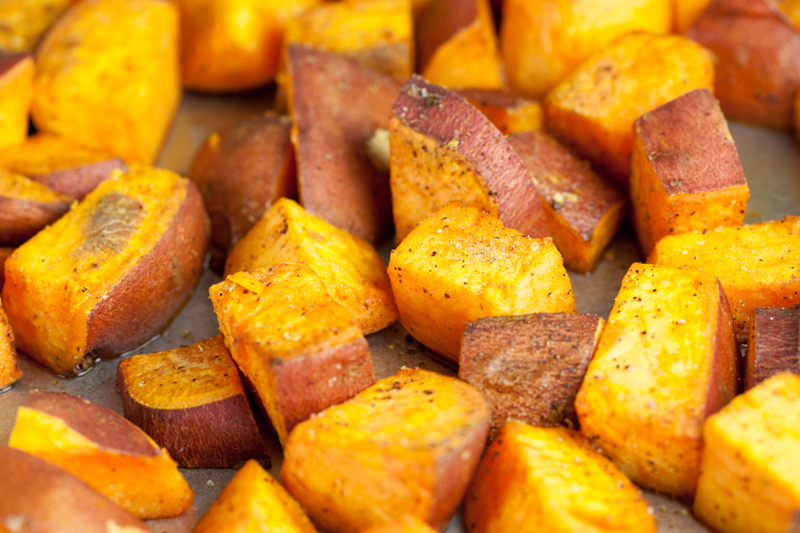 Coconut Roasted Sweet Potatoes | www.thatwasvegan.com