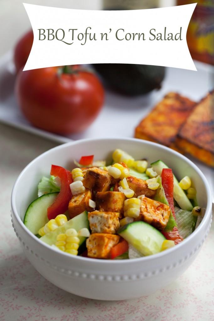 Buffalo Tofu n' Corn Salad | www.thatwasvegan.com