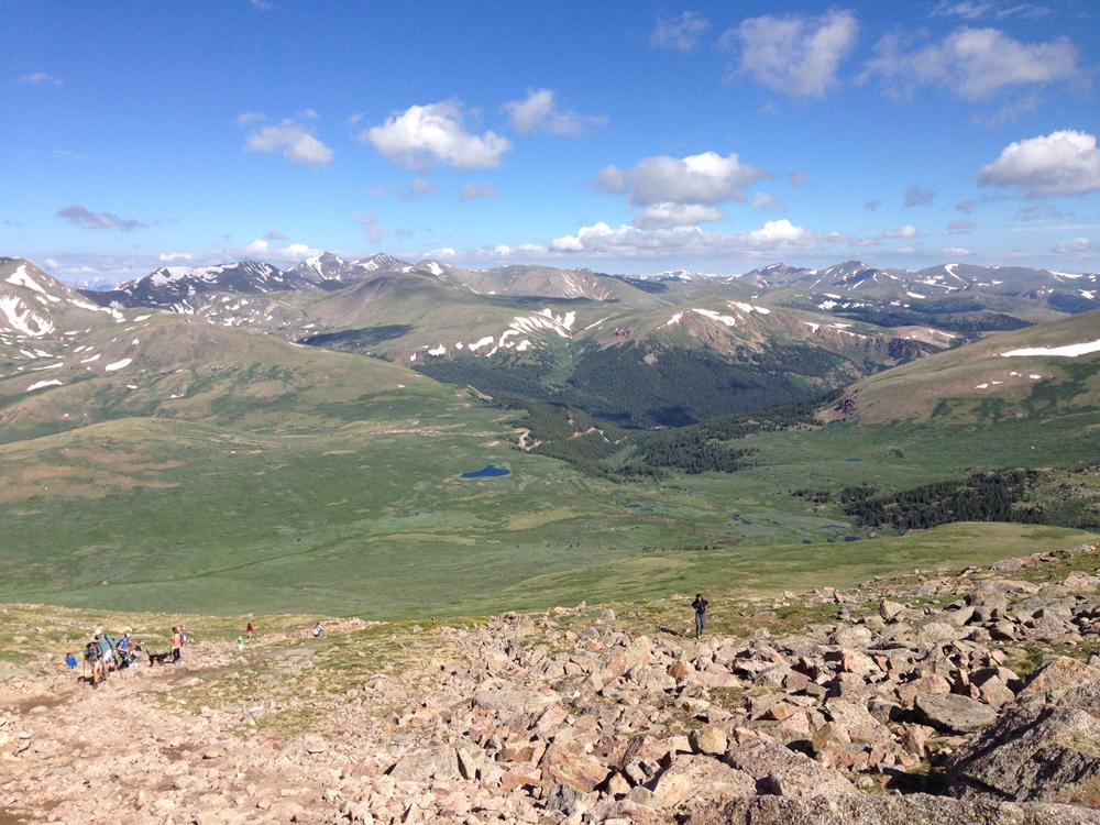 Mt Bierstadt: From the Top   www.thatwasvegan.com