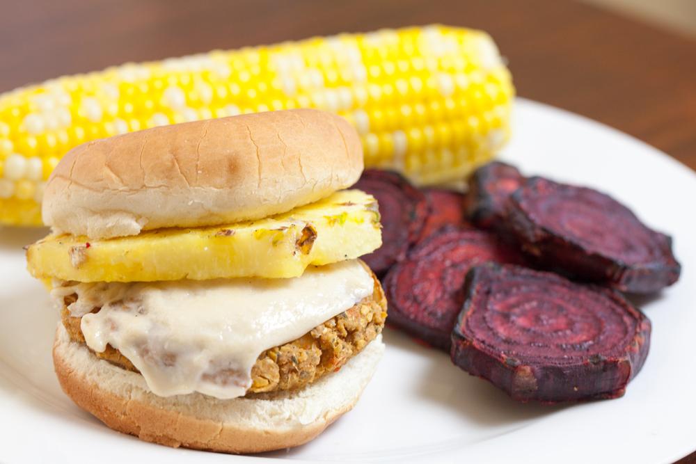 Spicy Hawaiian Chickpea Burgers | www.thatwasvegan.com