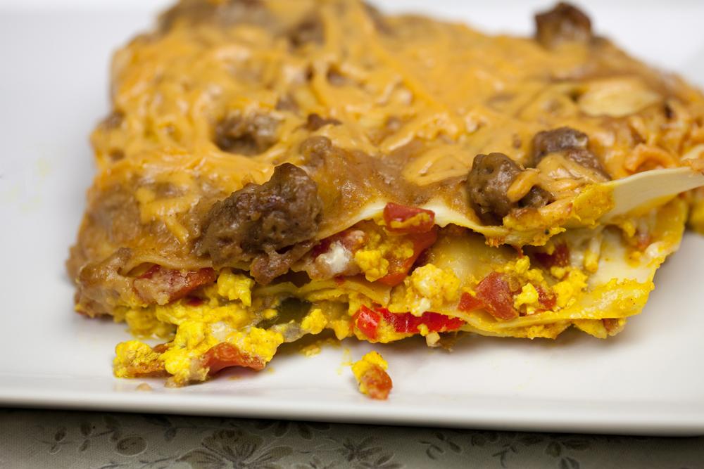 Breakfast Lasagna | www.thatwasvegan.com