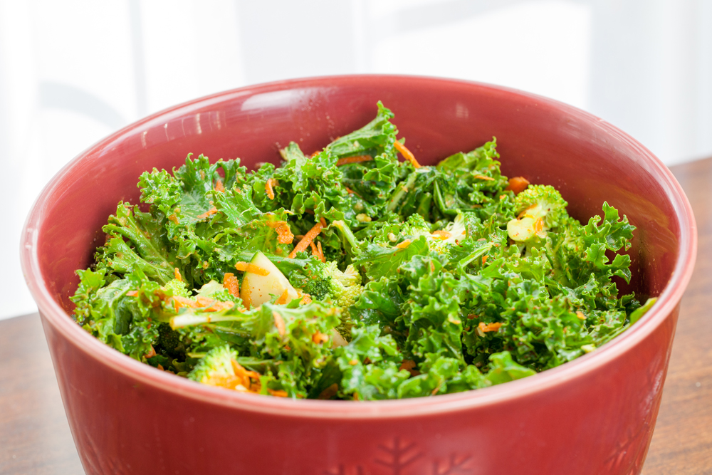 My Easy, Spicy Kale Salad is full of raw veggies too: broccoli ...