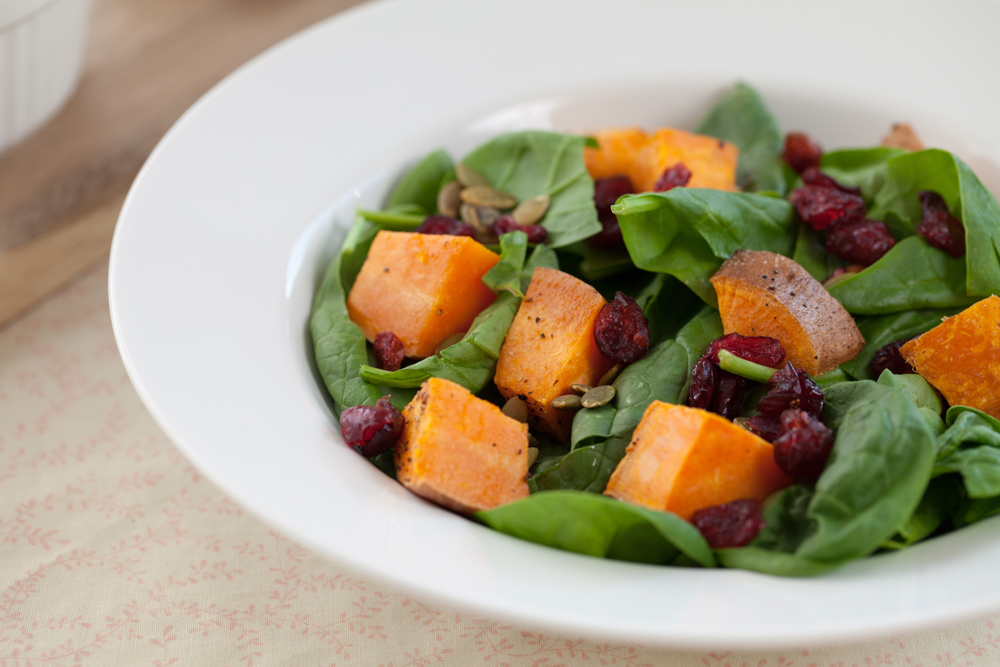 Sweet Potato Spinach Salad | www.thatwasvegan.com