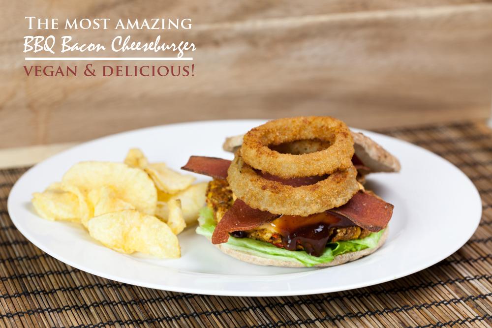 Vegan BBQ Bacon Cheeseburgers | www.thatwasvegan.com