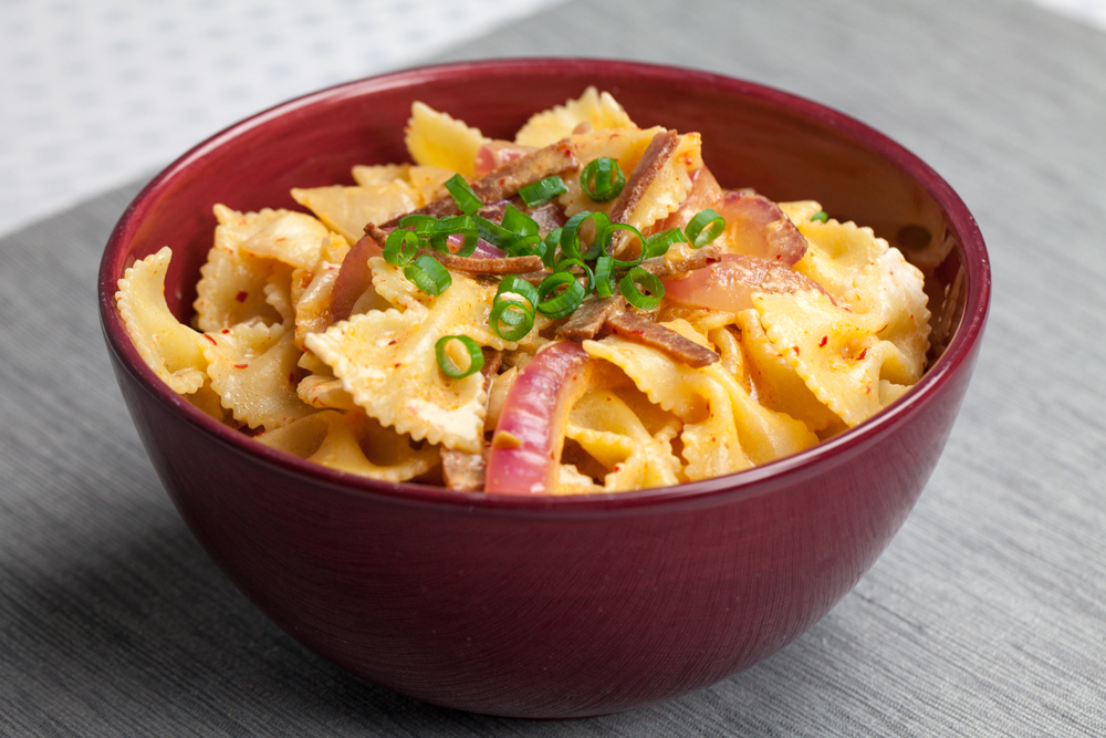 Creamy Kimchi Pasta | www.thatwasvegan