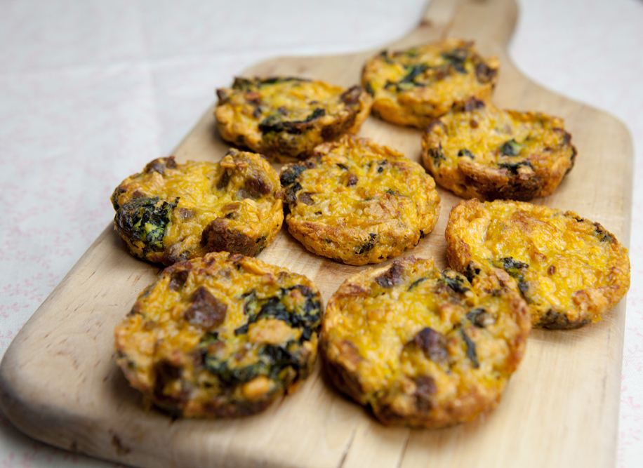 Sausage n' Cheese Mini Quiche | www.thatwasvegan.com