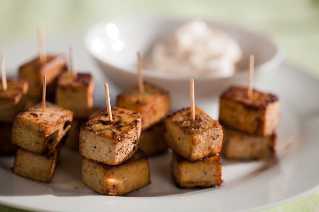 Garlicky Pepper Tofu Bites